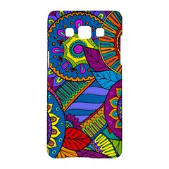 Pop Art Paisley Flowers Ornaments Multicolored Samsung Galaxy A5 Hardshell Case  by EDDArt