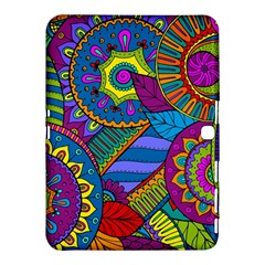 Pop Art Paisley Flowers Ornaments Multicolored Samsung Galaxy Tab 4 (10 1 ) Hardshell Case  by EDDArt