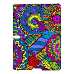 Pop Art Paisley Flowers Ornaments Multicolored Samsung Galaxy Tab S (10 5 ) Hardshell Case