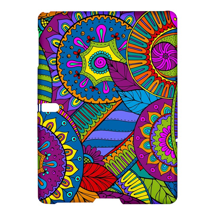 Pop Art Paisley Flowers Ornaments Multicolored Samsung Galaxy Tab S (10.5 ) Hardshell Case