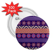 Colorful Winter Pattern 2.25  Buttons (100 pack)