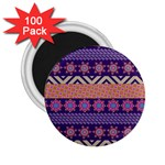 Colorful Winter Pattern 2.25  Magnets (100 pack)  Front
