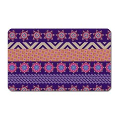 Colorful Winter Pattern Magnet (rectangular) by DanaeStudio