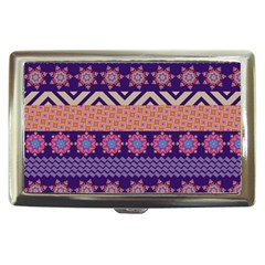 Colorful Winter Pattern Cigarette Money Cases by DanaeStudio
