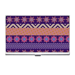Colorful Winter Pattern Business Card Holders by DanaeStudio