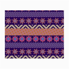 Colorful Winter Pattern Small Glasses Cloth by DanaeStudio