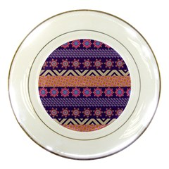 Colorful Winter Pattern Porcelain Plates by DanaeStudio