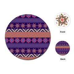 Colorful Winter Pattern Playing Cards (round)  by DanaeStudio