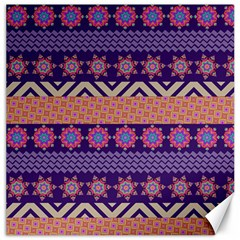 Colorful Winter Pattern Canvas 20  x 20