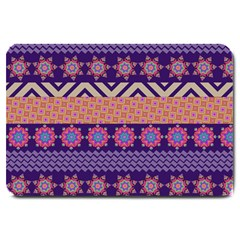 Colorful Winter Pattern Large Doormat  by DanaeStudio