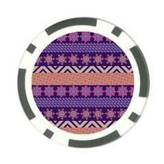 Colorful Winter Pattern Poker Chip Card Guards (10 pack)