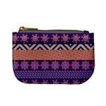 Colorful Winter Pattern Mini Coin Purses Front