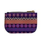 Colorful Winter Pattern Mini Coin Purses Back