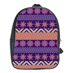 Colorful Winter Pattern School Bags(Large)
