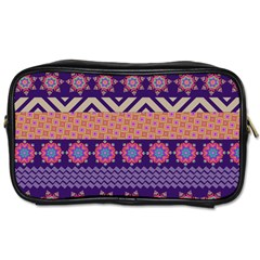 Colorful Winter Pattern Toiletries Bags 2-Side