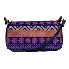 Colorful Winter Pattern Shoulder Clutch Bags