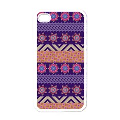 Colorful Winter Pattern Apple iPhone 4 Case (White)