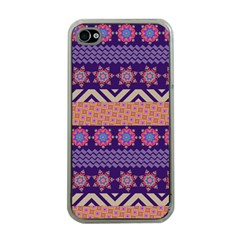 Colorful Winter Pattern Apple Iphone 4 Case (clear) by DanaeStudio