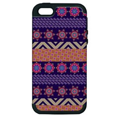 Colorful Winter Pattern Apple iPhone 5 Hardshell Case (PC+Silicone)