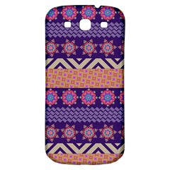 Colorful Winter Pattern Samsung Galaxy S3 S III Classic Hardshell Back Case