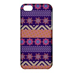 Colorful Winter Pattern Apple iPhone 5C Hardshell Case