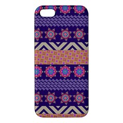 Colorful Winter Pattern iPhone 5S/ SE Premium Hardshell Case