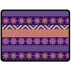 Colorful Winter Pattern Double Sided Fleece Blanket (large)  by DanaeStudio