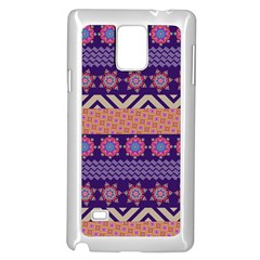 Colorful Winter Pattern Samsung Galaxy Note 4 Case (white) by DanaeStudio