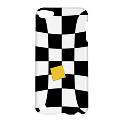 Dropout Yellow Black And White Distorted Check Apple Ipod Touch 5 Hardshell Case by designworld65
