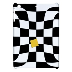 Dropout Yellow Black And White Distorted Check Apple Ipad Mini Hardshell Case by designworld65