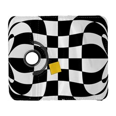 Dropout Yellow Black And White Distorted Check Samsung Galaxy S  Iii Flip 360 Case by designworld65