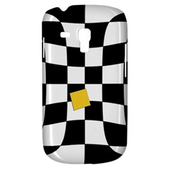 Dropout Yellow Black And White Distorted Check Samsung Galaxy S3 Mini I8190 Hardshell Case by designworld65