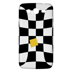 Dropout Yellow Black And White Distorted Check Samsung Galaxy Mega 5 8 I9152 Hardshell Case  by designworld65