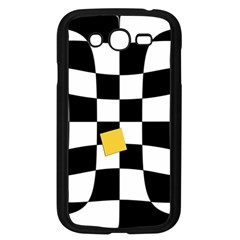 Dropout Yellow Black And White Distorted Check Samsung Galaxy Grand Duos I9082 Case (black) by designworld65