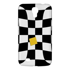 Dropout Yellow Black And White Distorted Check Samsung Galaxy Mega 6 3  I9200 Hardshell Case by designworld65