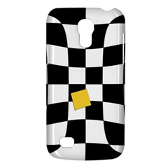 Dropout Yellow Black And White Distorted Check Galaxy S4 Mini by designworld65