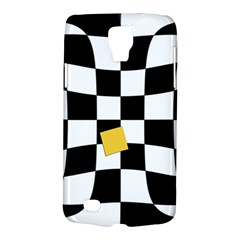 Dropout Yellow Black And White Distorted Check Galaxy S4 Active by designworld65