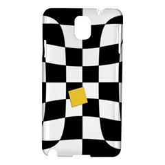 Dropout Yellow Black And White Distorted Check Samsung Galaxy Note 3 N9005 Hardshell Case by designworld65