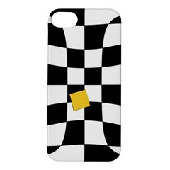 Dropout Yellow Black And White Distorted Check Apple Iphone 5s/ Se Hardshell Case by designworld65