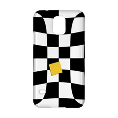 Dropout Yellow Black And White Distorted Check Samsung Galaxy S5 Hardshell Case  by designworld65