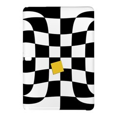 Dropout Yellow Black And White Distorted Check Samsung Galaxy Tab Pro 12 2 Hardshell Case by designworld65