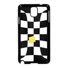 Dropout Yellow Black And White Distorted Check Samsung Galaxy Note 3 Neo Hardshell Case (black) by designworld65