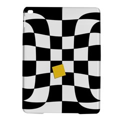 Dropout Yellow Black And White Distorted Check Ipad Air 2 Hardshell Cases by designworld65