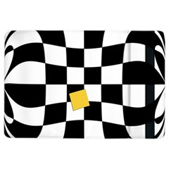 Dropout Yellow Black And White Distorted Check Ipad Air 2 Flip by designworld65