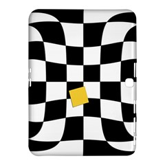 Dropout Yellow Black And White Distorted Check Samsung Galaxy Tab 4 (10 1 ) Hardshell Case  by designworld65