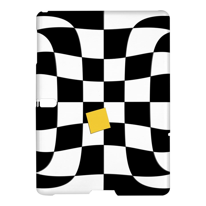 Dropout Yellow Black And White Distorted Check Samsung Galaxy Tab S (10.5 ) Hardshell Case