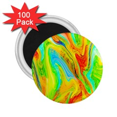 Happy Multicolor Painting 2 25  Magnets (100 Pack)  by designworld65