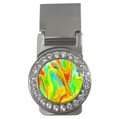 Happy Multicolor Painting Money Clips (cz)  by designworld65