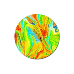 Happy Multicolor Painting Magnet 3  (round) by designworld65