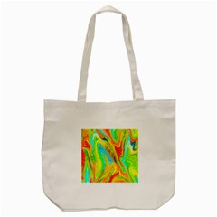 Happy Multicolor Painting Tote Bag (cream) by designworld65